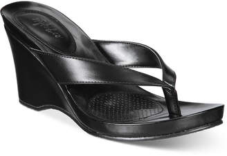 Style&Co. Style & Co Chicklet Wedge Thong Sandals, Created for Macy's Women's Shoes