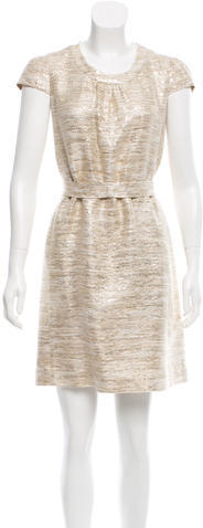 Kate Spade Kate Spade New York Metallic-Accented Cocktail Dress