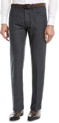 Canali Men's Solid Wool 5-Pocket Pants