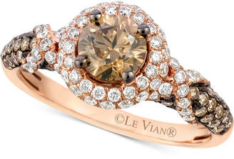 Le Vian Chocolatier Diamond Engagement Ring (1-5/8 ct. t.w.) in 14k Rose Gold $9,501 thestylecure.com