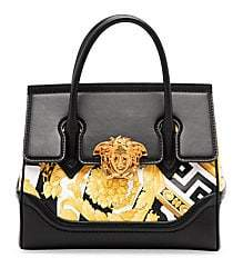 Versace Women's Small Top Handle Leather Bag