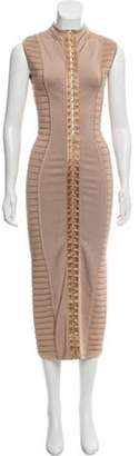 Balmain Bandage Midi Dress w/ Tags brown Bandage Midi Dress w/ Tags