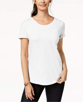 Style&Co. Style & Co Cuffed-Sleeve Cotton T-Shirt