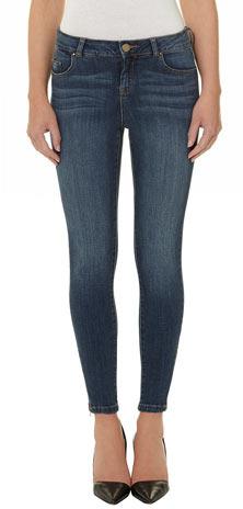 Dorothy Perkins Midwash zip ankle grazer jeans