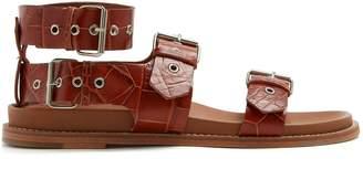 Marques Almeida MARQUES'ALMEIDA Crocodile-effect leather sandals