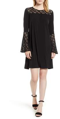 MICHAEL Michael Kors Lace Inset Bell Sleeve Swing Dress
