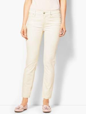 Talbots Slim Leg Ankle Jeans - Vanilla