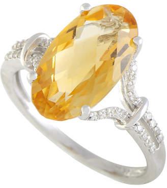 Generic Gemstones 14K 0.10 Ct. Tw. Diamond & Citrine Ring