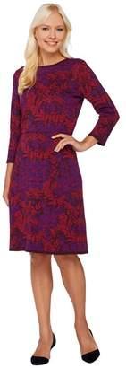 Isaac Mizrahi Live! Floral Lurex Jacquard Sweater Dress