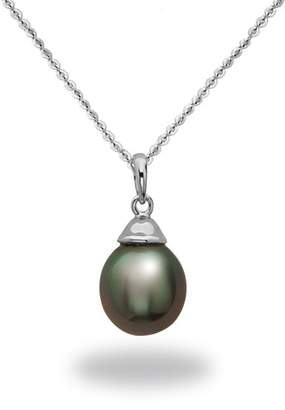 TARA Pearls 14K White Gold 9-10mm Tahitian Pearl Pendant Necklace