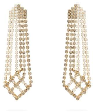 Rosantica By Michela Panero - Crystal Drop Tassel Earrings - Womens - Grey Multi