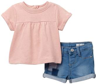 AG Jeans Heathered French Terry Top & Shorts Set (Baby Girls)