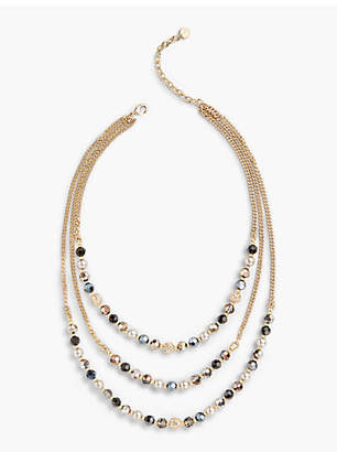 Talbots Layered Beads Necklace
