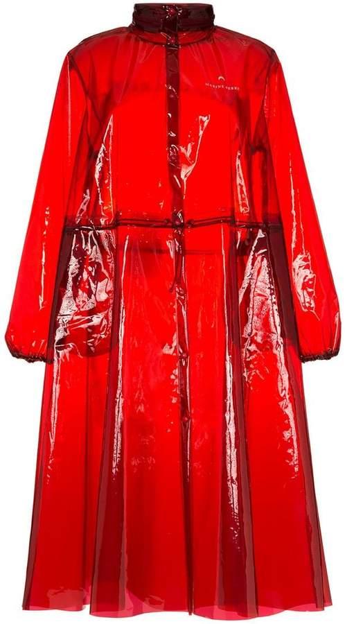 Marine Serre logo print hooded PVC rain coat