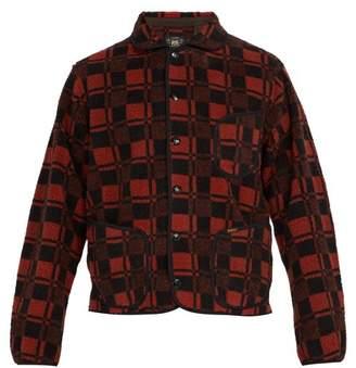 Rrl - Checked Fleece Jacket - Mens - Red Multi
