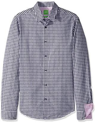 HUGO BOSS BOSS Green Men's C-Bustai Check Long Sleeve Shirt