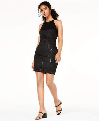 BCX Juniors' Lace Scallop Dress