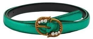 MANGO Pearl buckle belt