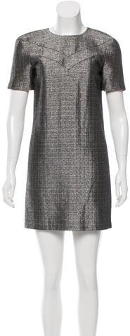 Saint Laurent Saint Laurent Metallic Shift Dress