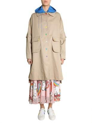 Mira Mikati Trench Coat With Multicoloured Buttons
