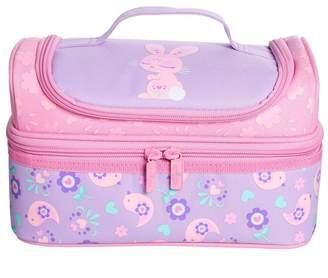 Girls Smiggle Deja Vu Double Decker Lunchbox - Purple
