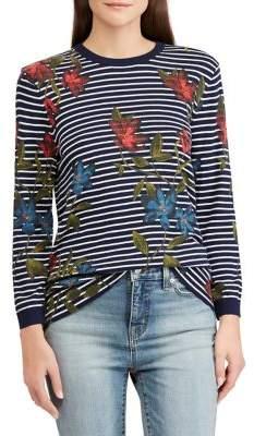 Lauren Ralph Lauren Floral & Striped Top