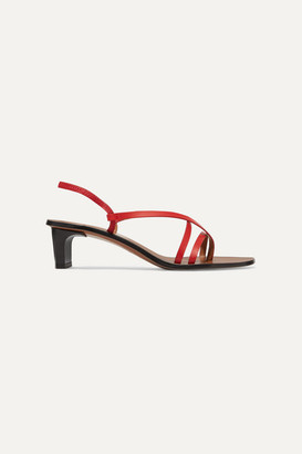 Atelier ATP Nashi Leather Slingback Sandals - Red