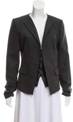 Pinko Elicia Wool Collarless Structured Blazer