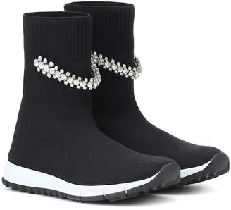 Jimmy Choo Regena embellished sock sneakers