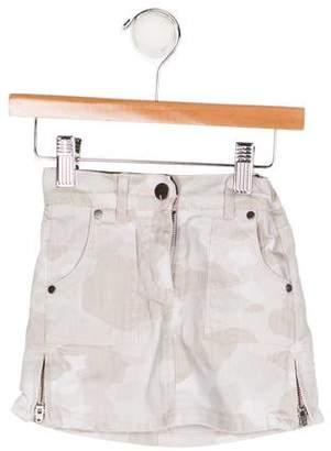 Stella McCartney Girls' Camouflage Print Skirt