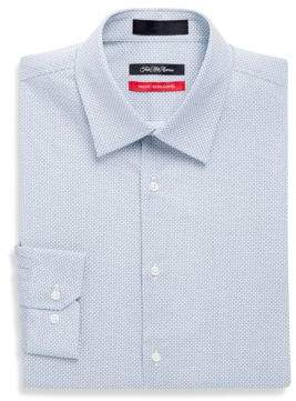 Saks Fifth Avenue RED Printed Geo Neat Dress Shirt