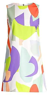 Alice + Olivia Women's Clyde Colorblock Graphic Shift Dress - Size 0