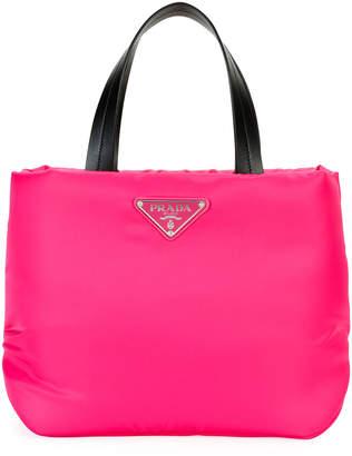 Prada Nylon Small Zip Tote Bag
