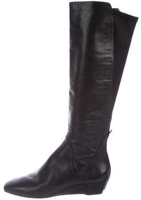 Donald J Pliner Leather Mid-Calf Boots