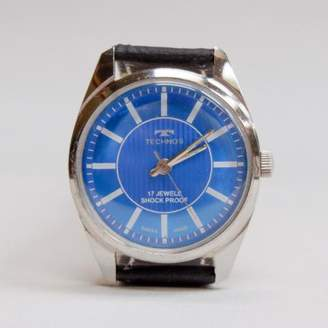 Blade + Blue Vintage 1970's Technos Blue Face Watch