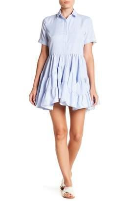 Gracia Stripe Ruffle Layer Dress