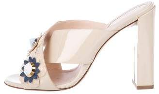 Fendi Floral High Heel Sandals