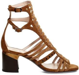 LANVIN Gladiator suede sandals $1,085 thestylecure.com