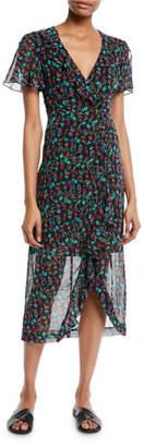 Nanette Lepore Getaway Floral Silk V-Neck Dress