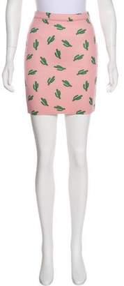 American Retro Printed Mini Skirt w/ Tags