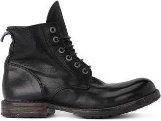 Moma Cusna Black Old Leather Ankle Boots