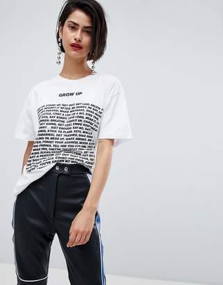House of Holland Unisex Max Wallis Grow Up t-shirt