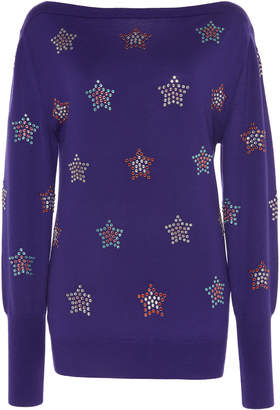 Paco Rabanne Crystal-Embellished Wool Sweater