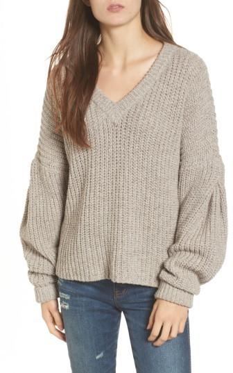 Women's Madewell Pleat Sleeve Pullover Sweater