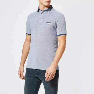 Superdry Men's City Oxford Short Sleeve Pique Polo Shirt