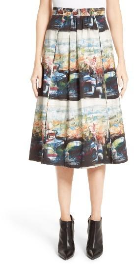 Women's Burberry Kinsale Print A-Line Skirt