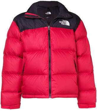 The North Face colour-block padded jacket