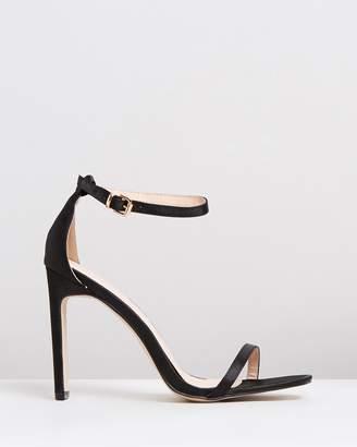 Public Desire Vino Square Toe Heels