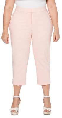 Rafaella Plus Cropped Slim-Leg Trousers
