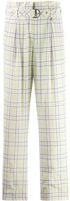 Patrizia Pepe belted check trousers